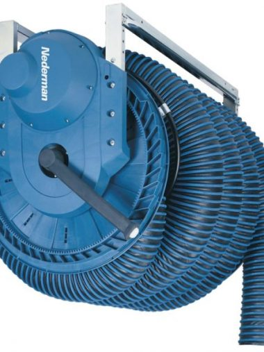 Spring Recoiled Vehicle Exhaust Hose Reels